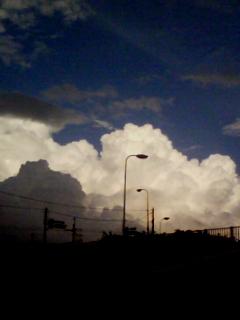 この夏最期の入道雲