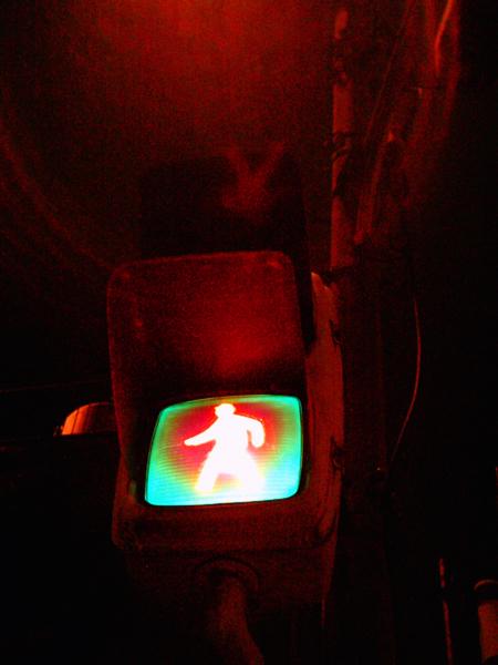 焦げめ色信号機