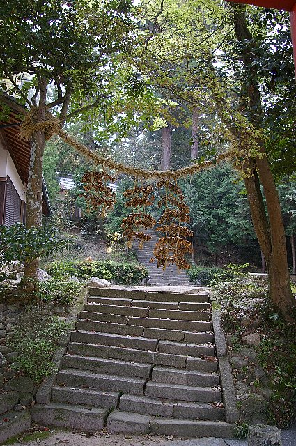 三田野良神社徘徊ー1/平田・一位稲荷大明神の注連縄