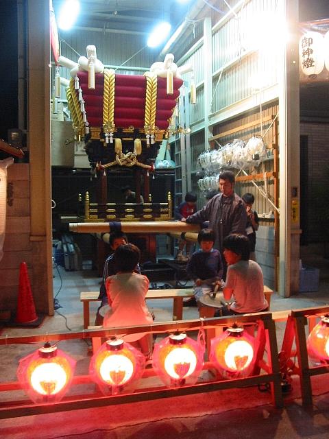 瓢箪山町の布団太鼓台