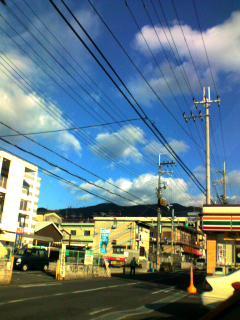 大晦日、一日晴れてました