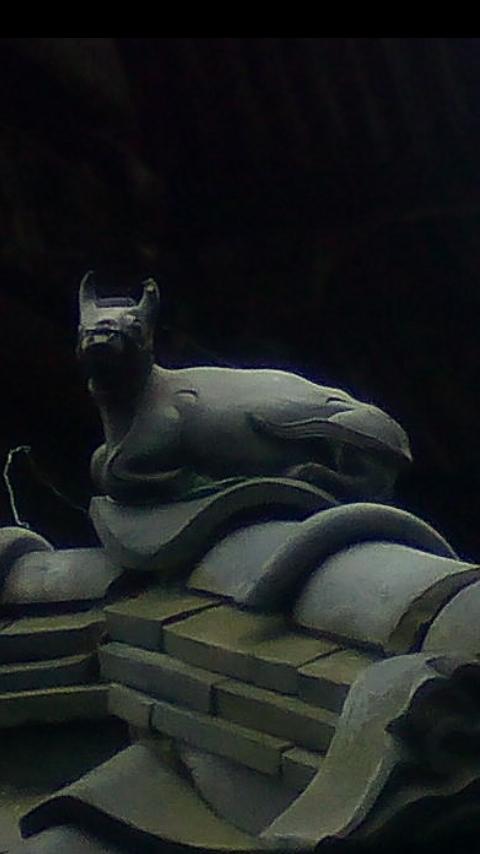 天満宮牛飾瓦