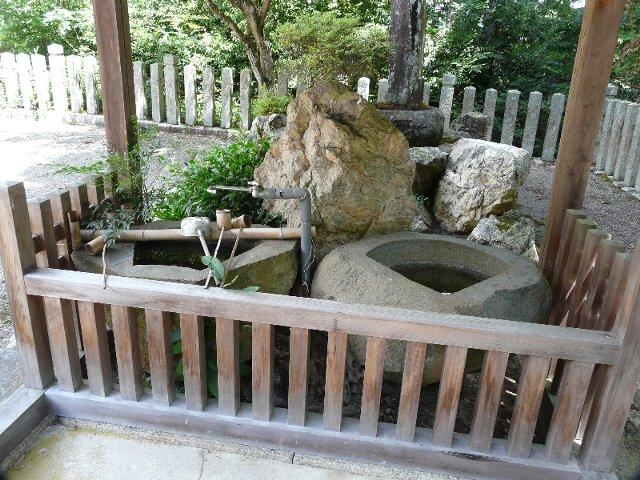 【丹波】二宮神社の手洗い盆