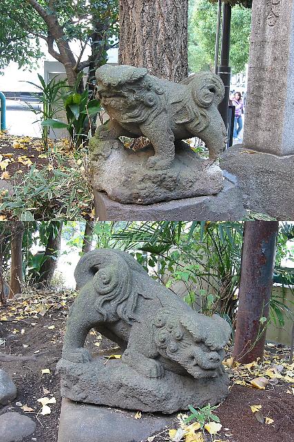 東京路地<4>駿河台・太田姫稲荷神社の狛犬さん