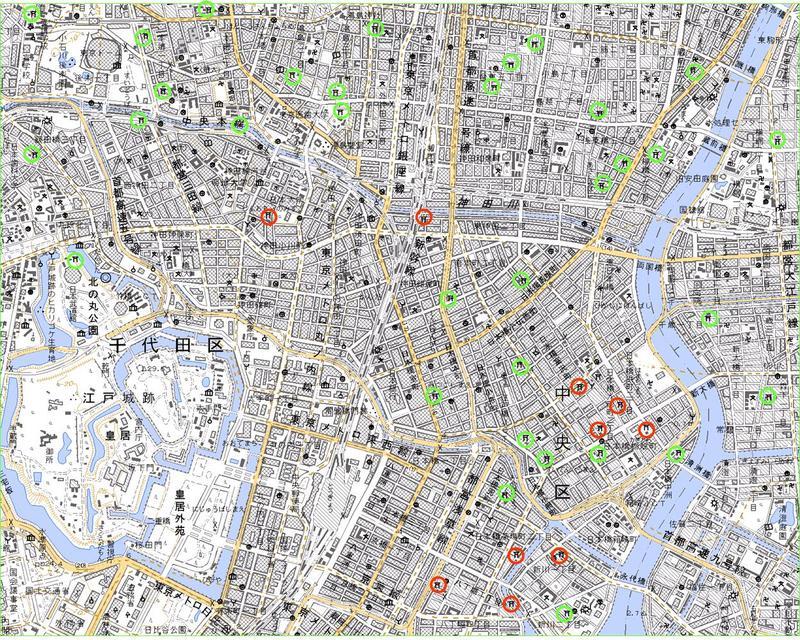 東京稲荷<1>まず、地図を見る。
